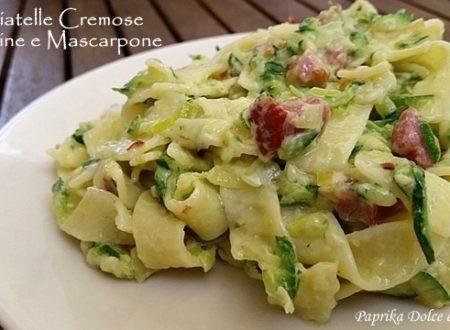Tagliatelle Cremose Zucchine e Mascarpone (ricetta veloce!)