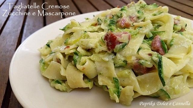 Ricetta pasta con zucchine e mascarpone