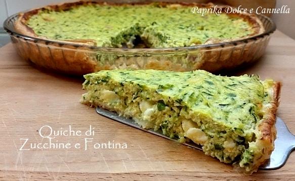 Quiche di Zucchine e Fontina