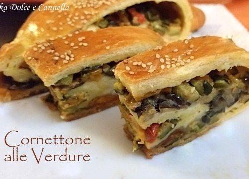 Cornettone alle Verdure (Peperoni, Melanzane e Zucchine)