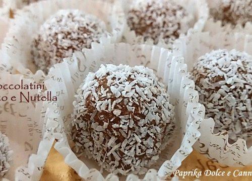 Cioccolatini Cocco e Crema alle Nocciole (cremosi o croccanti)