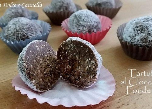 Tartufi al Cioccolato Fondente e Nocciole