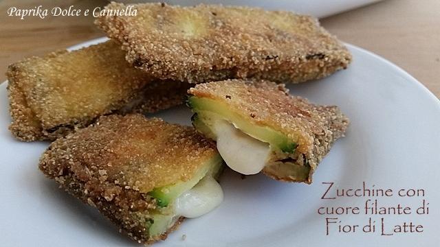Zucchine con cuore filante di Fior di Latte (al forno)