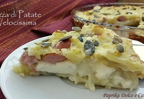 Pizza di Patate Velocissima (wurstel e stracchino)