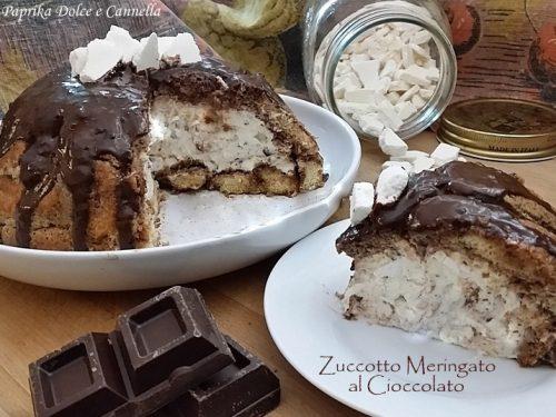 Zuccotto Meringato al Cioccolato Fondente