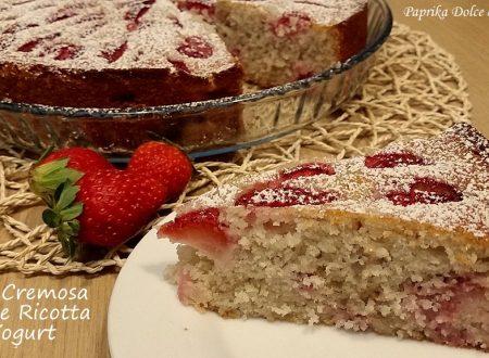 Torta Cremosa Fragole Ricotta e Yogurt