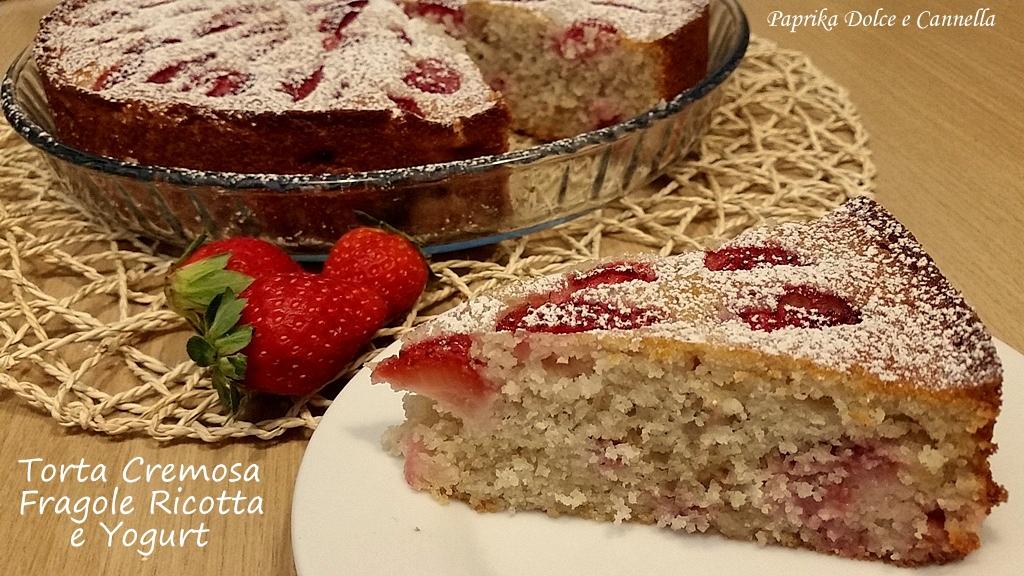 Torta Cremosa Fragole Ricotta E Yogurt Paprika Dolce E Cannella