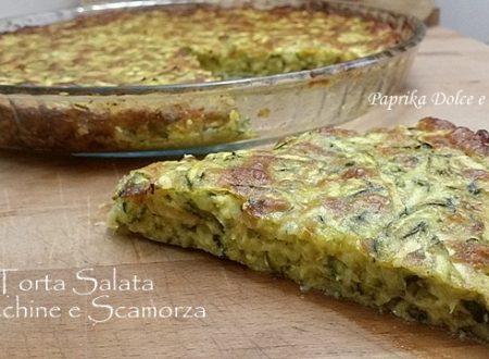 Torta Salata Zucchine e Scamorza