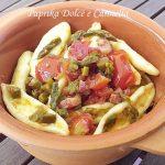 Pasta Fresca con  Asparagi Pancetta e Pomodori Pachino