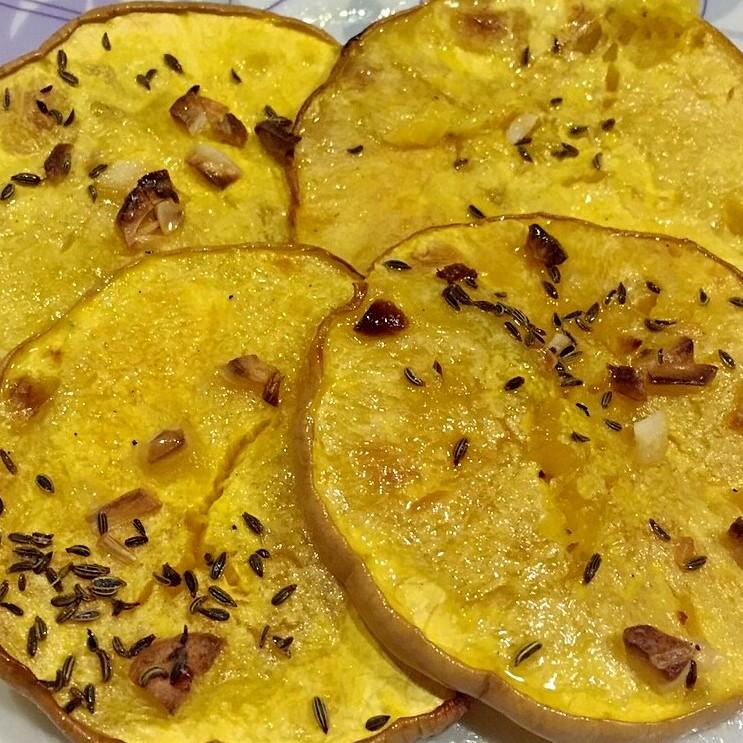 zucca gialla al forno