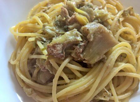 spaghetti carciofi e tonno