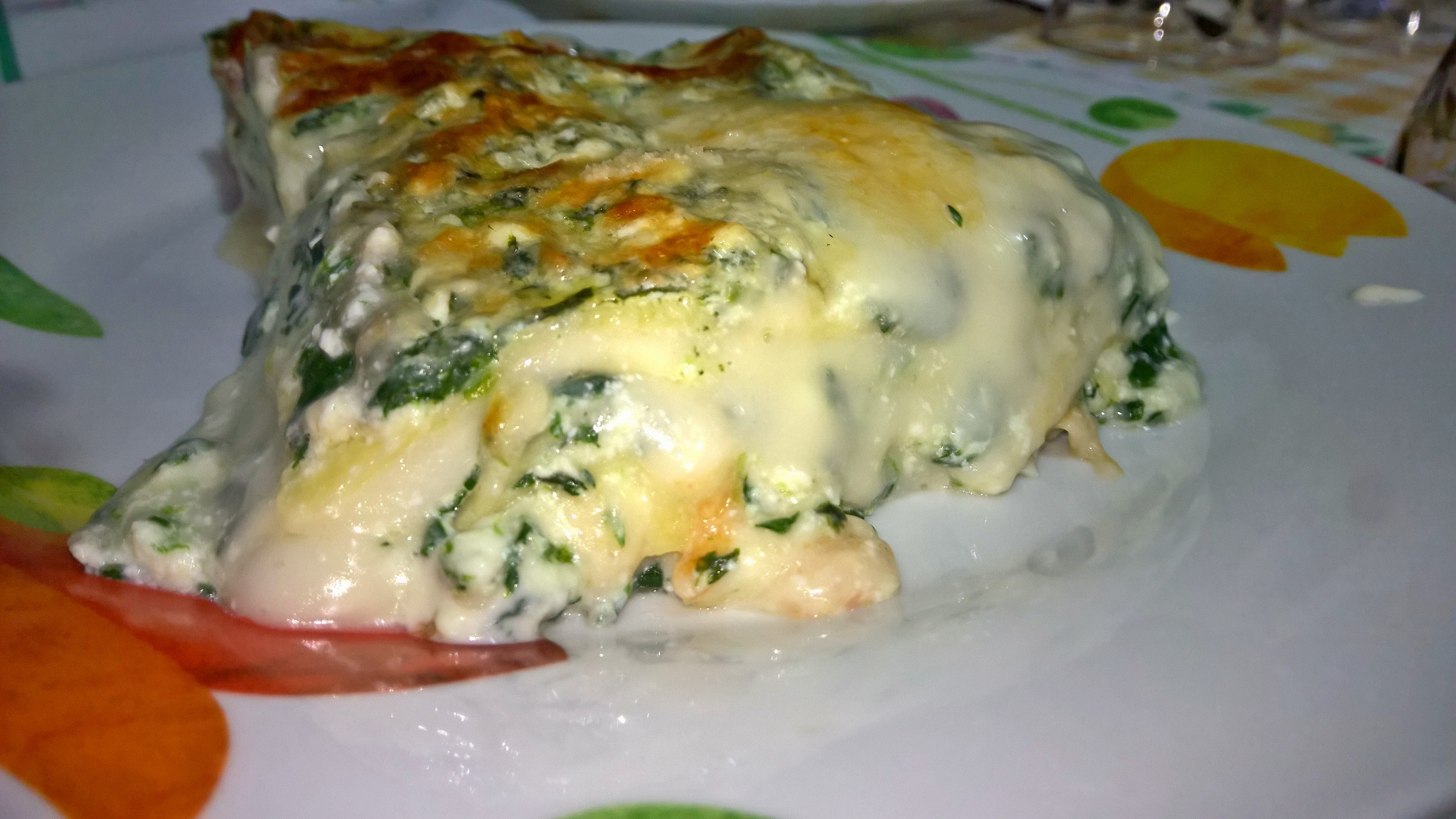 lasagna ricotta e spinaci