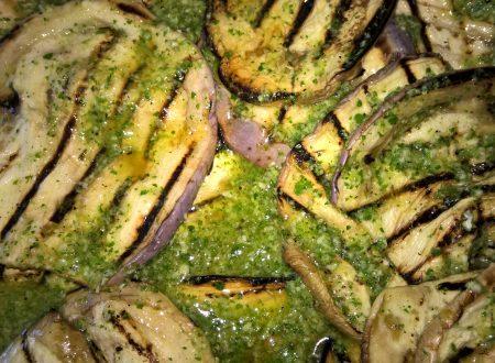melanzane grigliate al pesto di prezzemolo