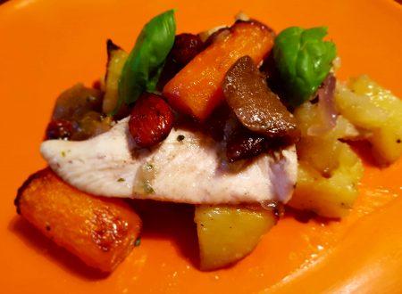 Petto di pollo verdure e mandorle