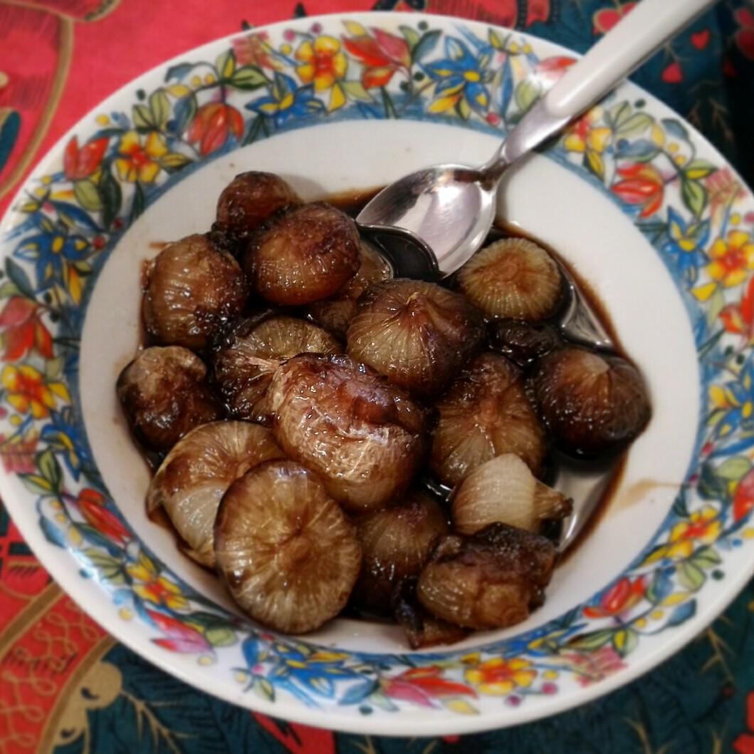 Cipolline in agrodolce con zucchero di canna