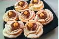 Roselline di carnevale con nutella