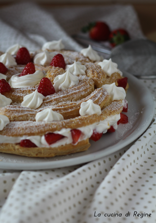 Paris-Brest panna e fragole