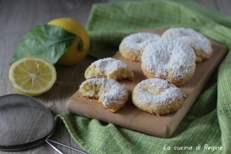 Biscotti morbidi ricotta e limone