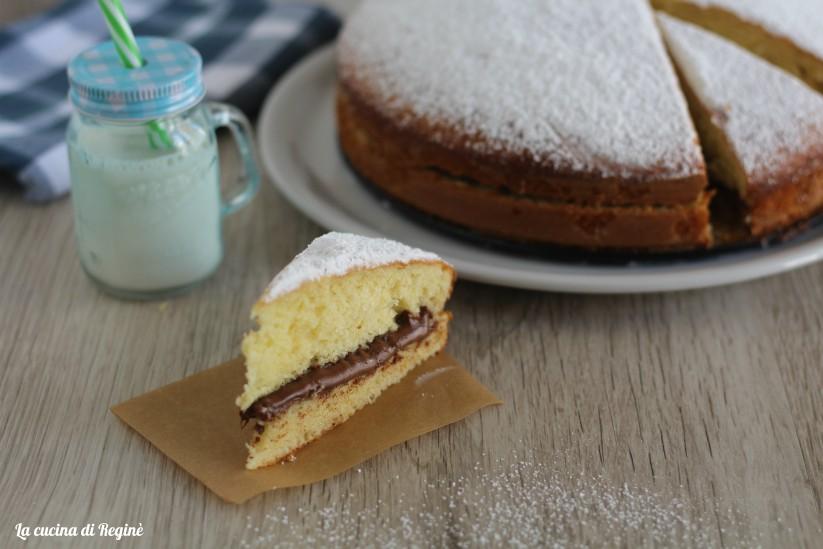 torta al mascarpone farcita di nutella