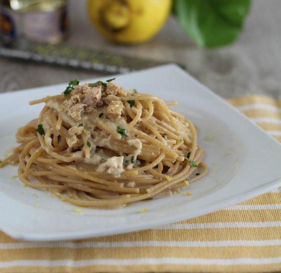 Spaghetti integrali tonno e Limone
