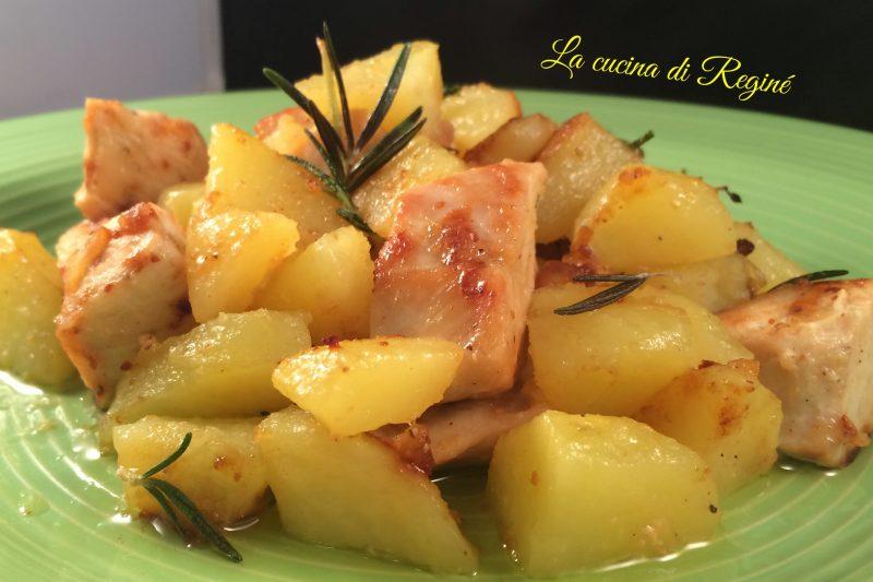 Dadolata di pollo e patate aromatica