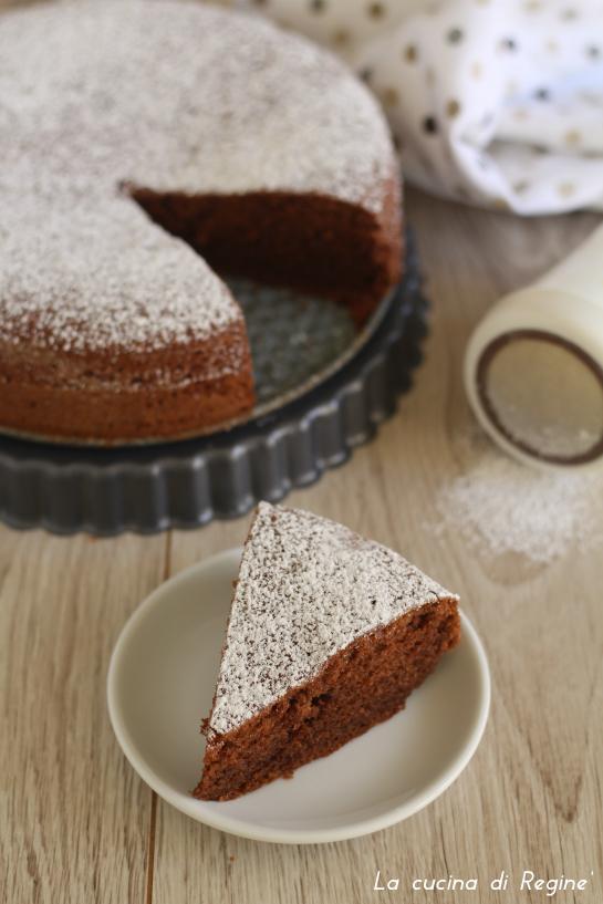 torta morbida al cacao con yogurt e albumi