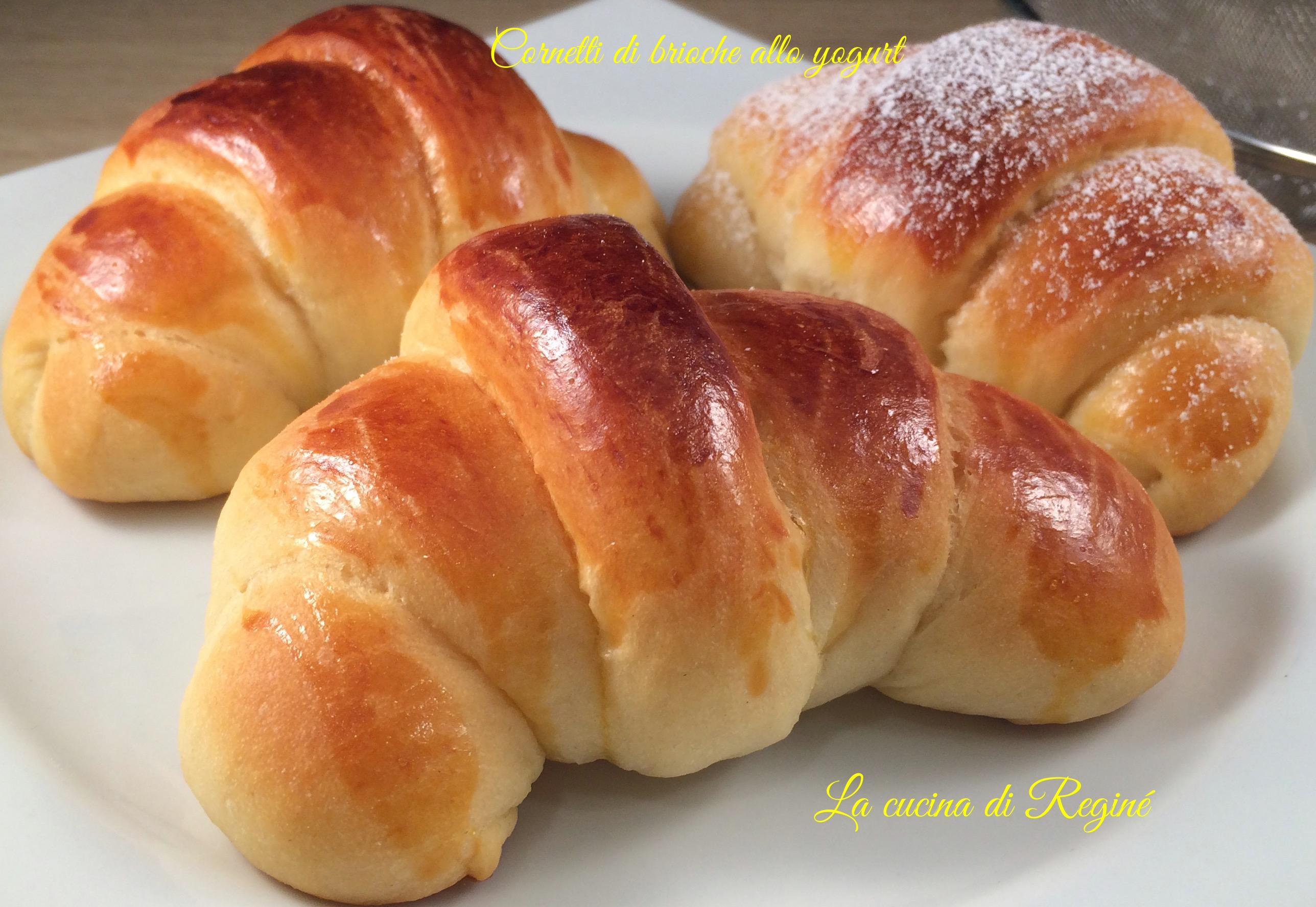 Amato Cornetti di brioche allo yogurt | La cucina di Reginé ☼ CU73