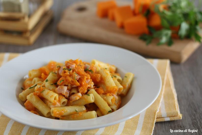 sedanini zucca e pancetta