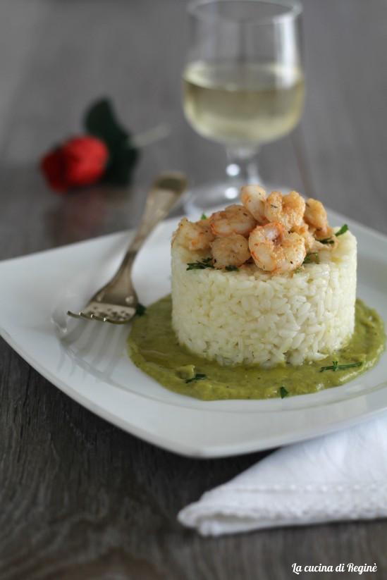 Sformatini di riso e gamberetti