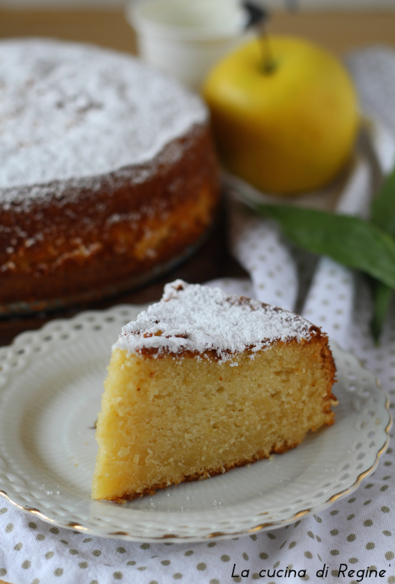 Torta sette vasetti mele grattugiate e limone