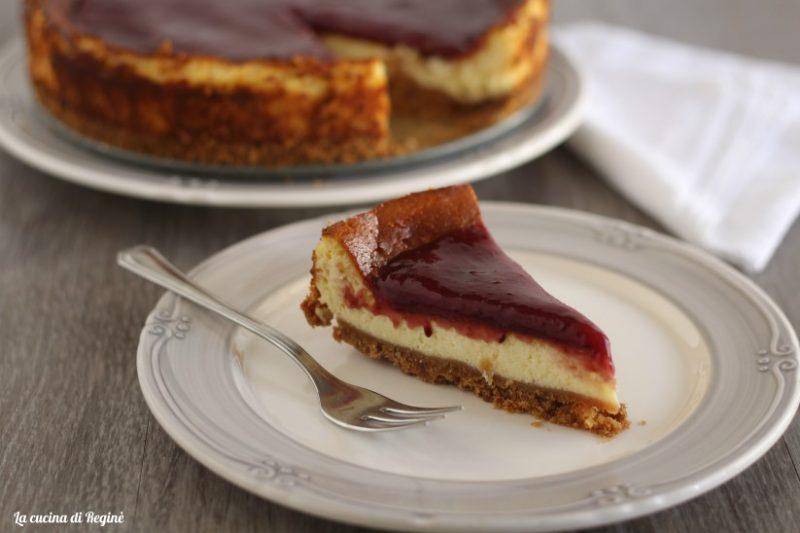 cheesecake ricotta e mascarpone ai frutti di bosco