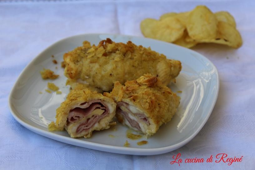 Involtini di pollo alle patatine