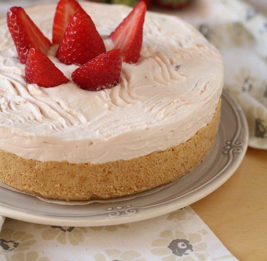 Torta fredda allo yogurt, sapore delicato