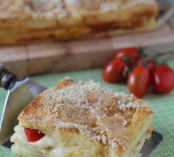 Pizza di Pancarrè farcita ricetta veloce