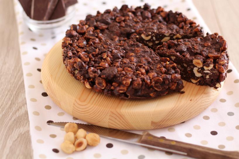torta senza cottura cioccolato e nocciole