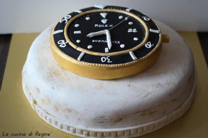 torta rolex in pasta da zucchero