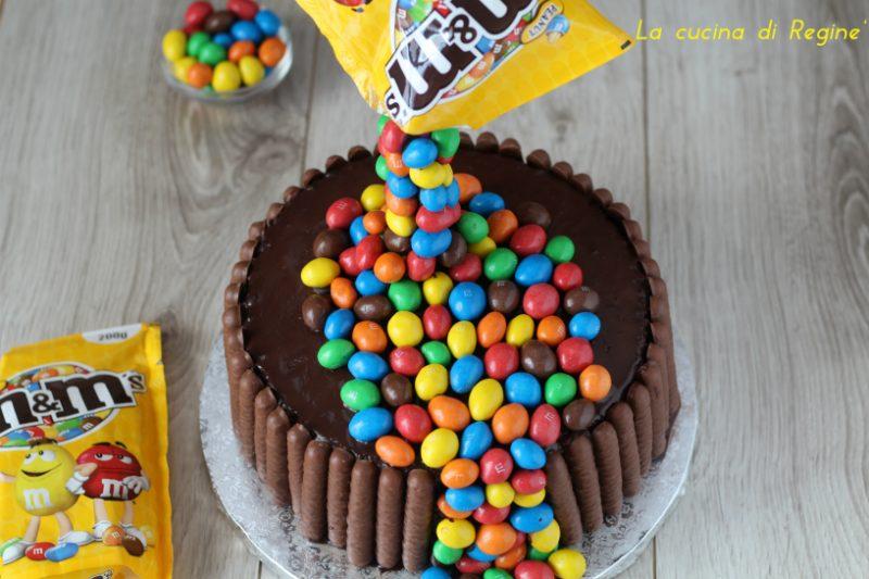 Gravity cake con M&M' S