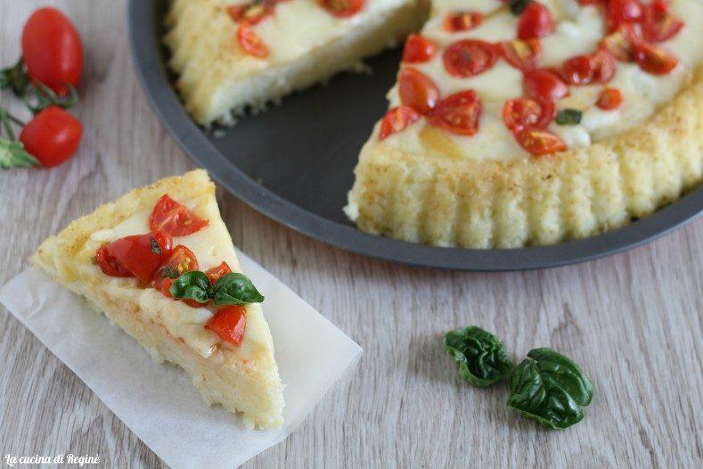 Crostata di riso mozzarella e pomodorini