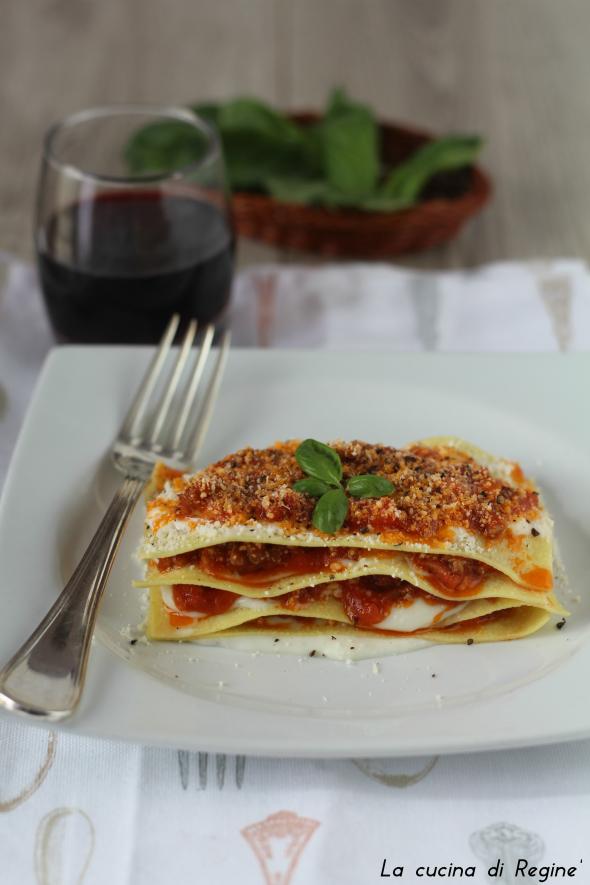 Lasagne scomposte, veloci e senza forno