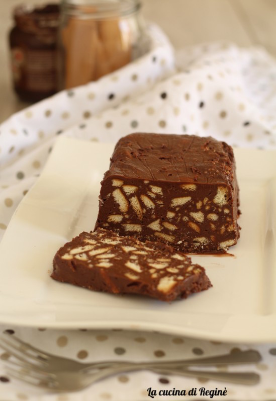 Tronchetto freddo biscotti e nutella