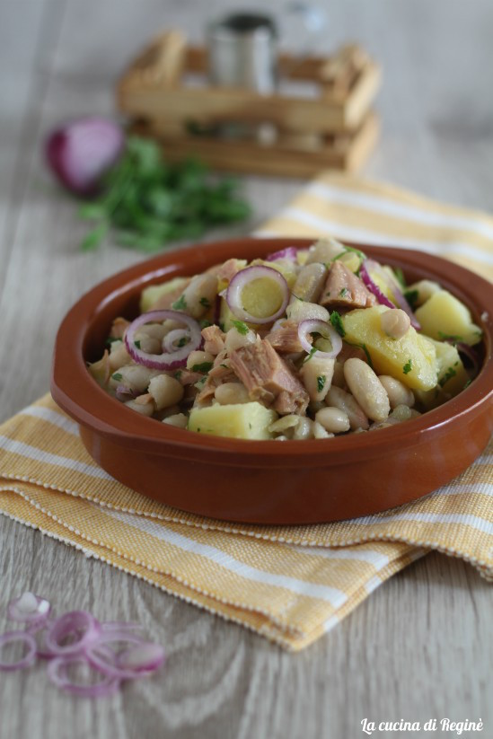 Insalata di patate tonno e fagioli