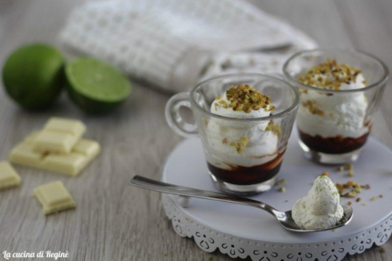 Mousse al cioccolato bianco e lime