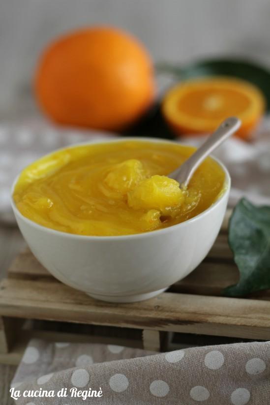 Crema all'arancia senza uova e senza latte