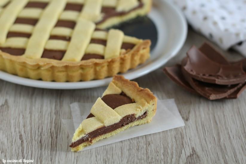 Crostata al cioccolato con uova di pasqua