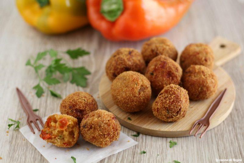Polpette di peperoni, secondo piatto vegetariano