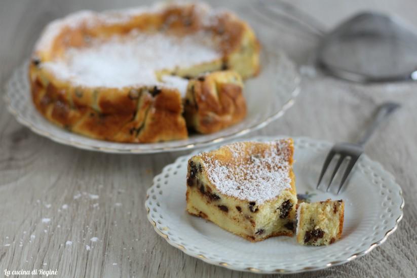 torta cremosa di ricotta e cioccolato
