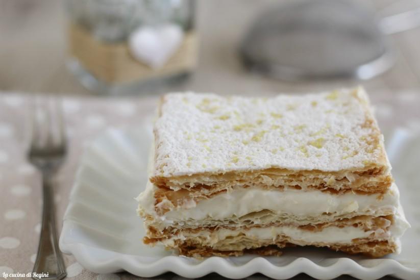 torta millefoglie con crema al limone