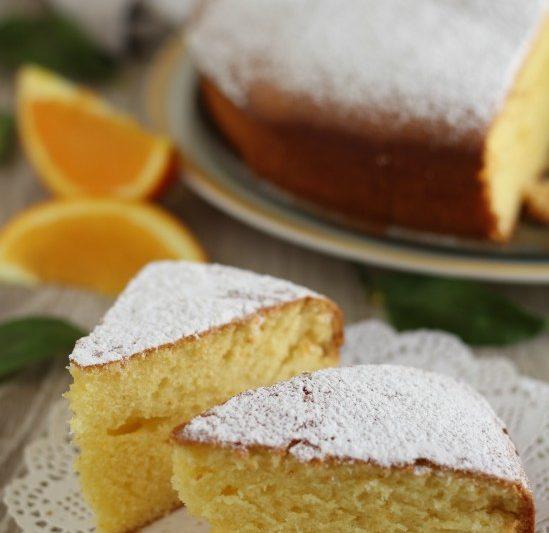 Torta con polpa d'arancia