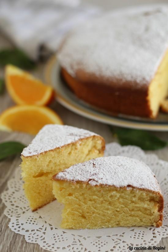 torta con polpa di arancia