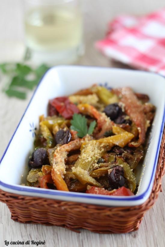 Peperoni in padella gratinati